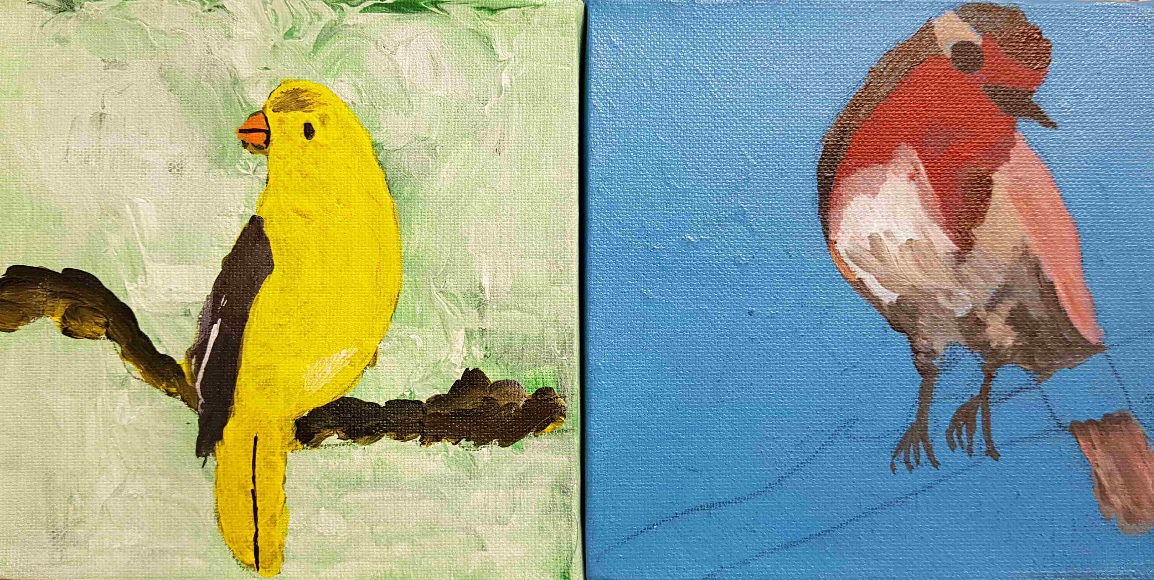 Paintings created by residents in the United Minds program