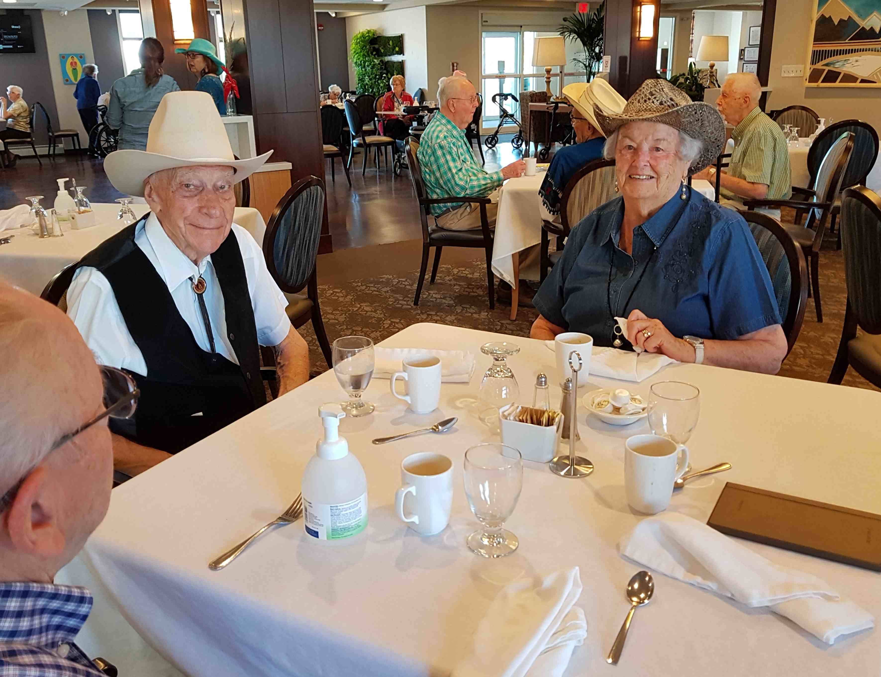 Bud and Betty Lou Purkiss getting in the Stampede spirit