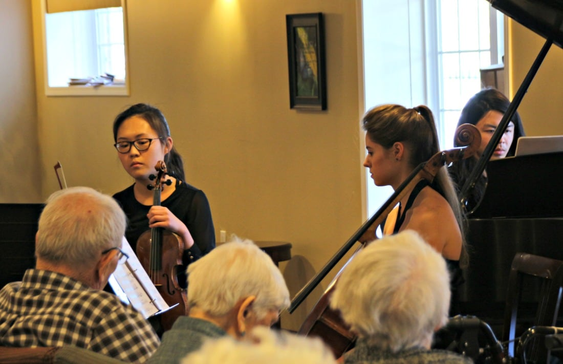 Musicians from Calgary Pro Musica perform at Garrison Green