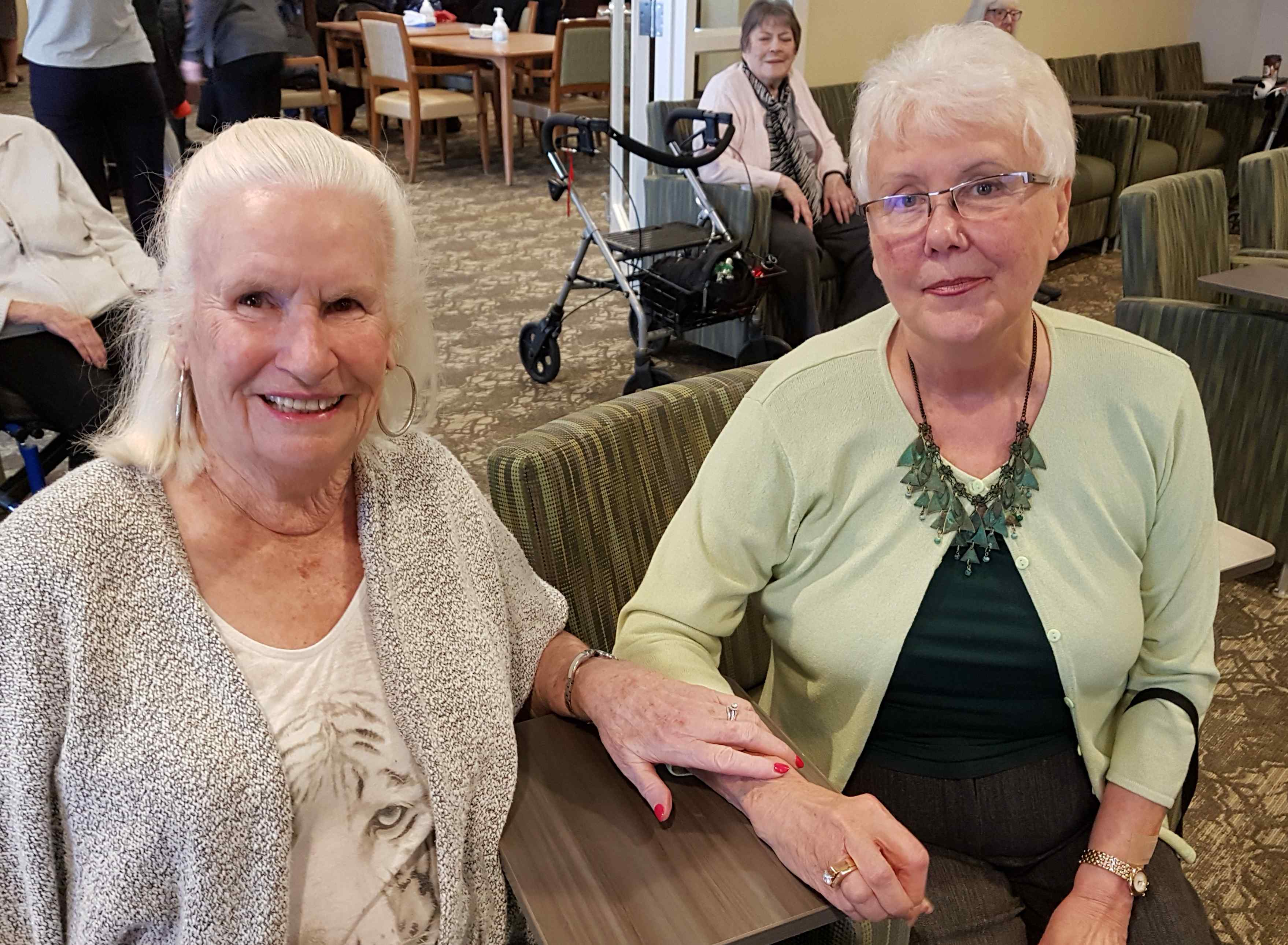 Residents Claire Weir, left, and Libby Roth
