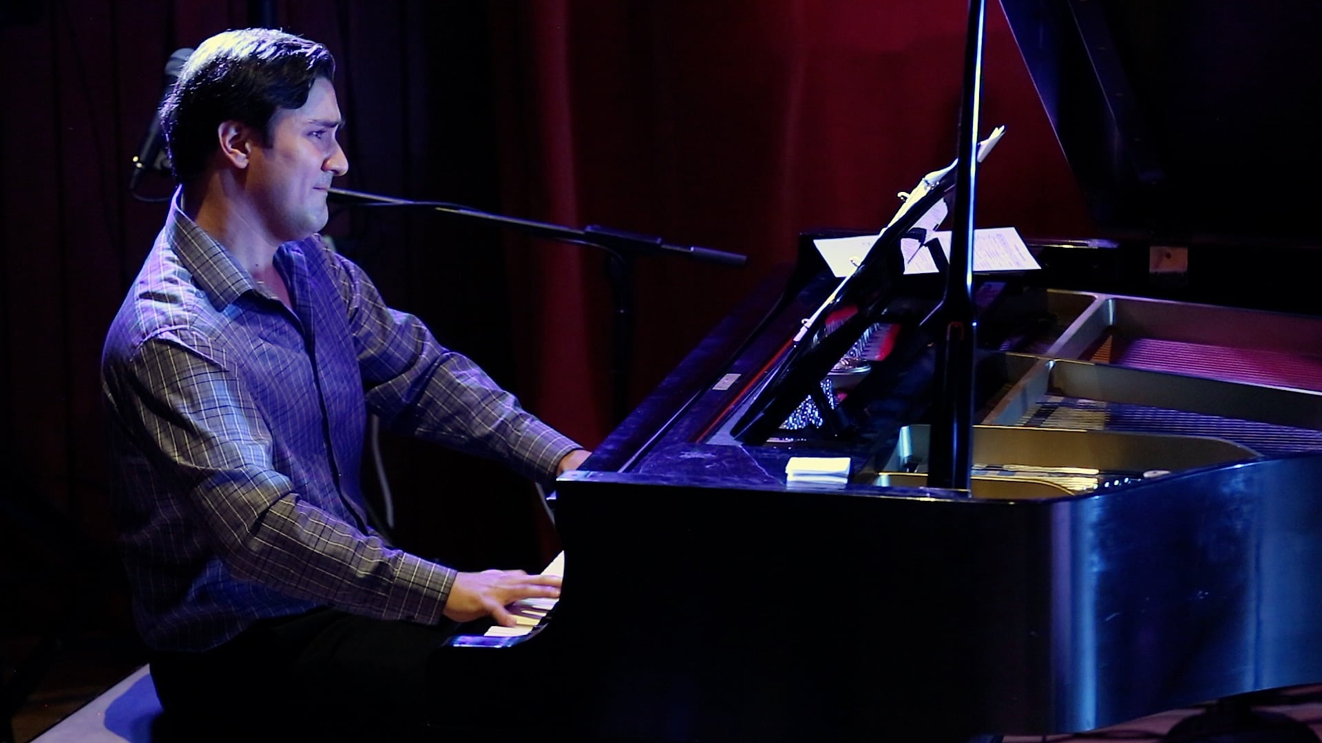 Composer Denis Nassar works with residents to compose new music