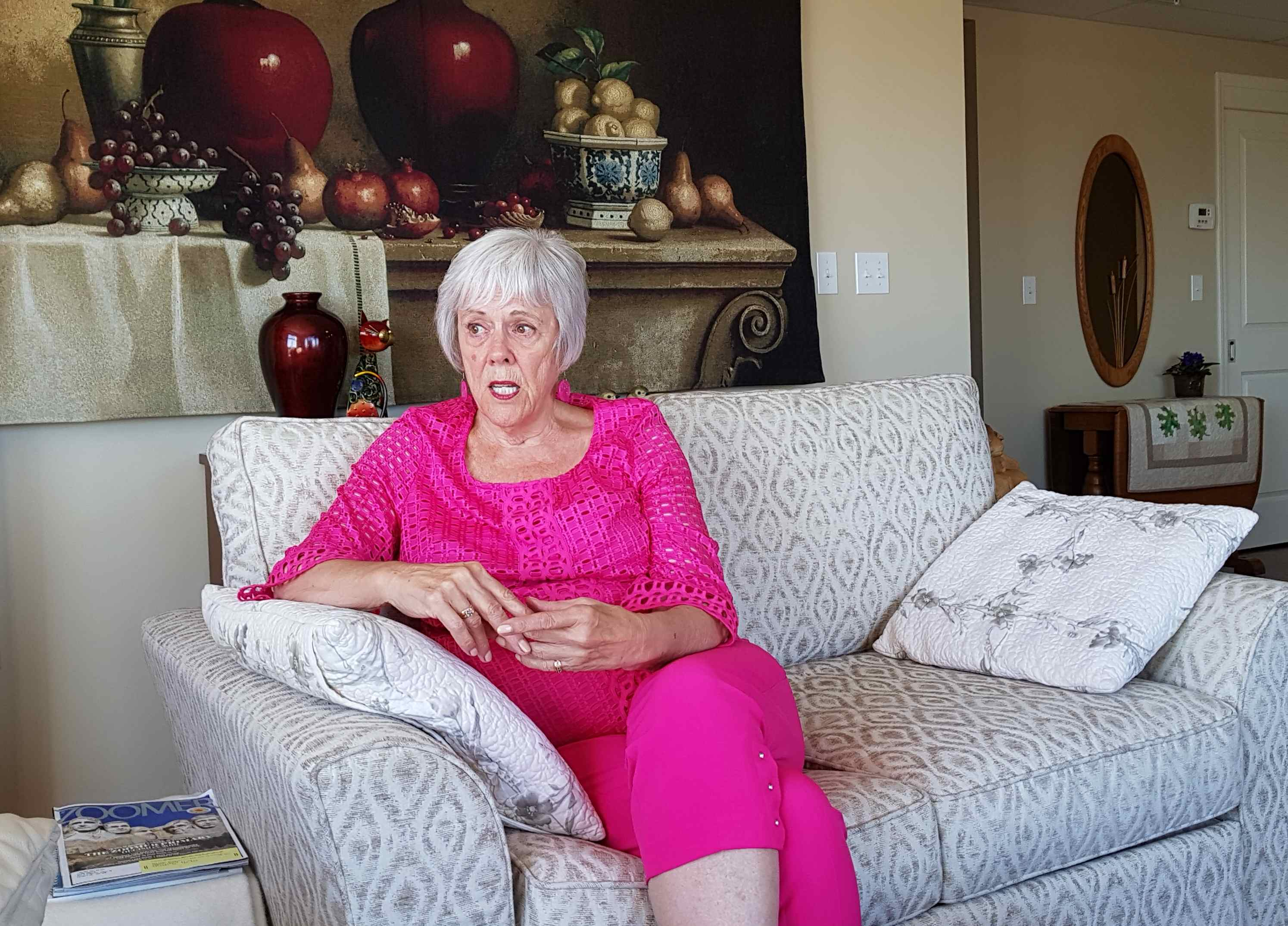 Diane Osberg in her spacious suite at Fish Creek