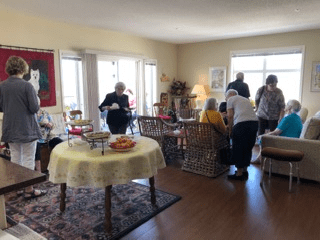 Diane invited 40 friends to her suite at United's Fish Creek West