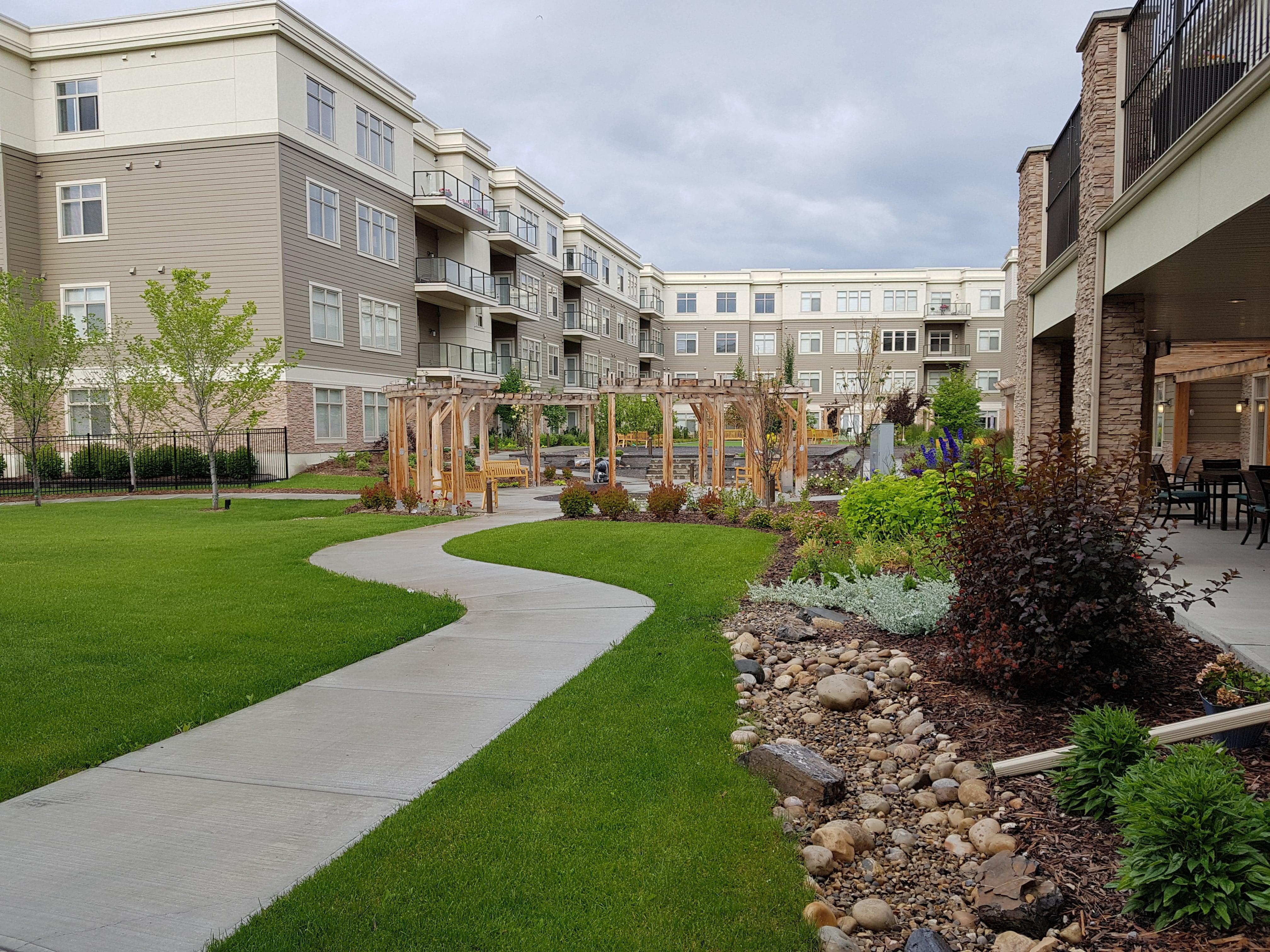 The courtyard at Fish Creek