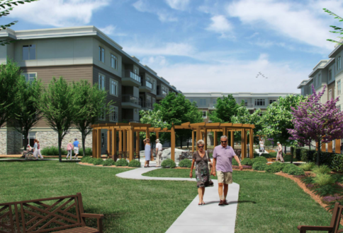 United Active Living's new courtyard at Fish Creek