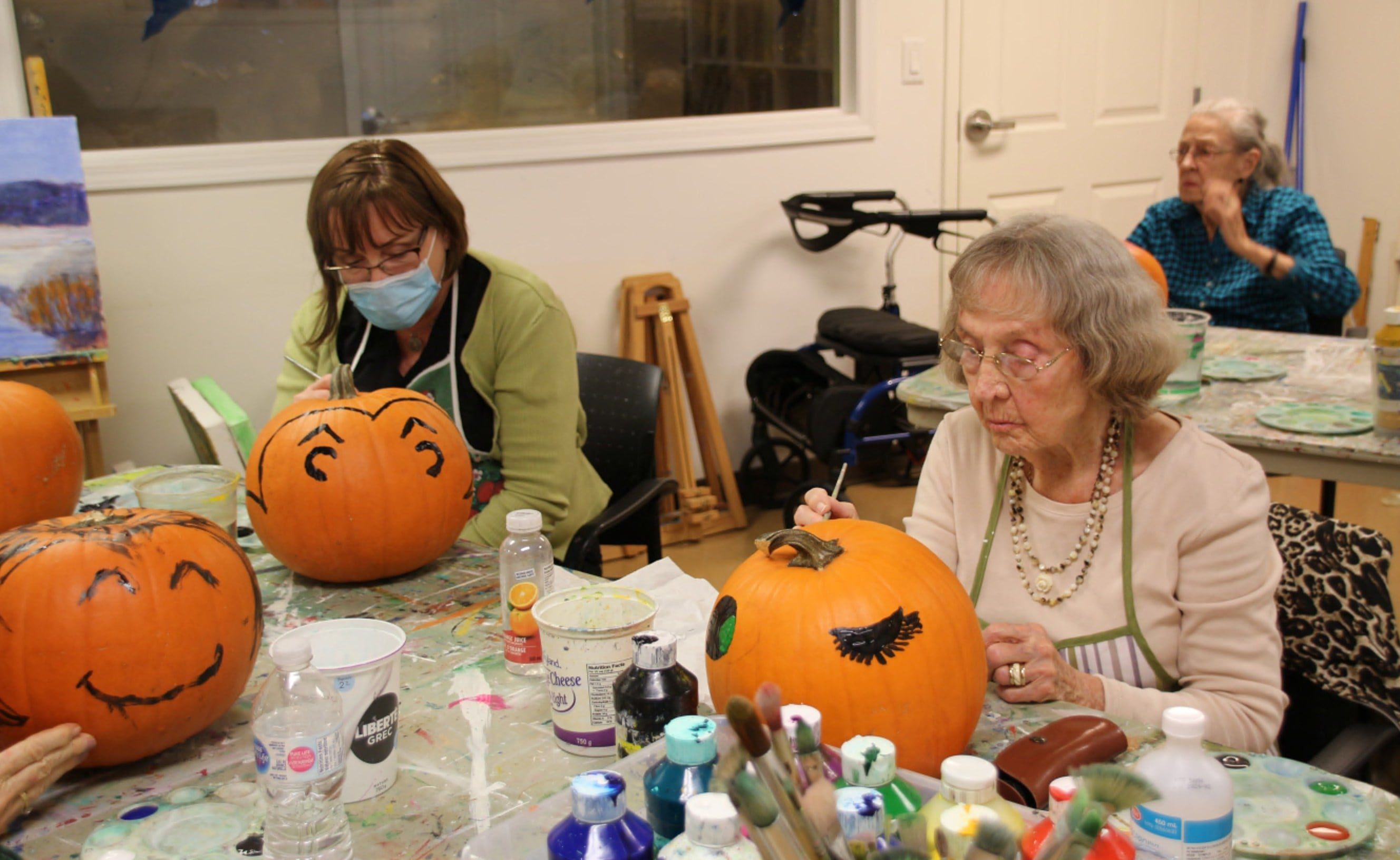 Residents and staff at Garrison Green put their ghoulish imaginations to work