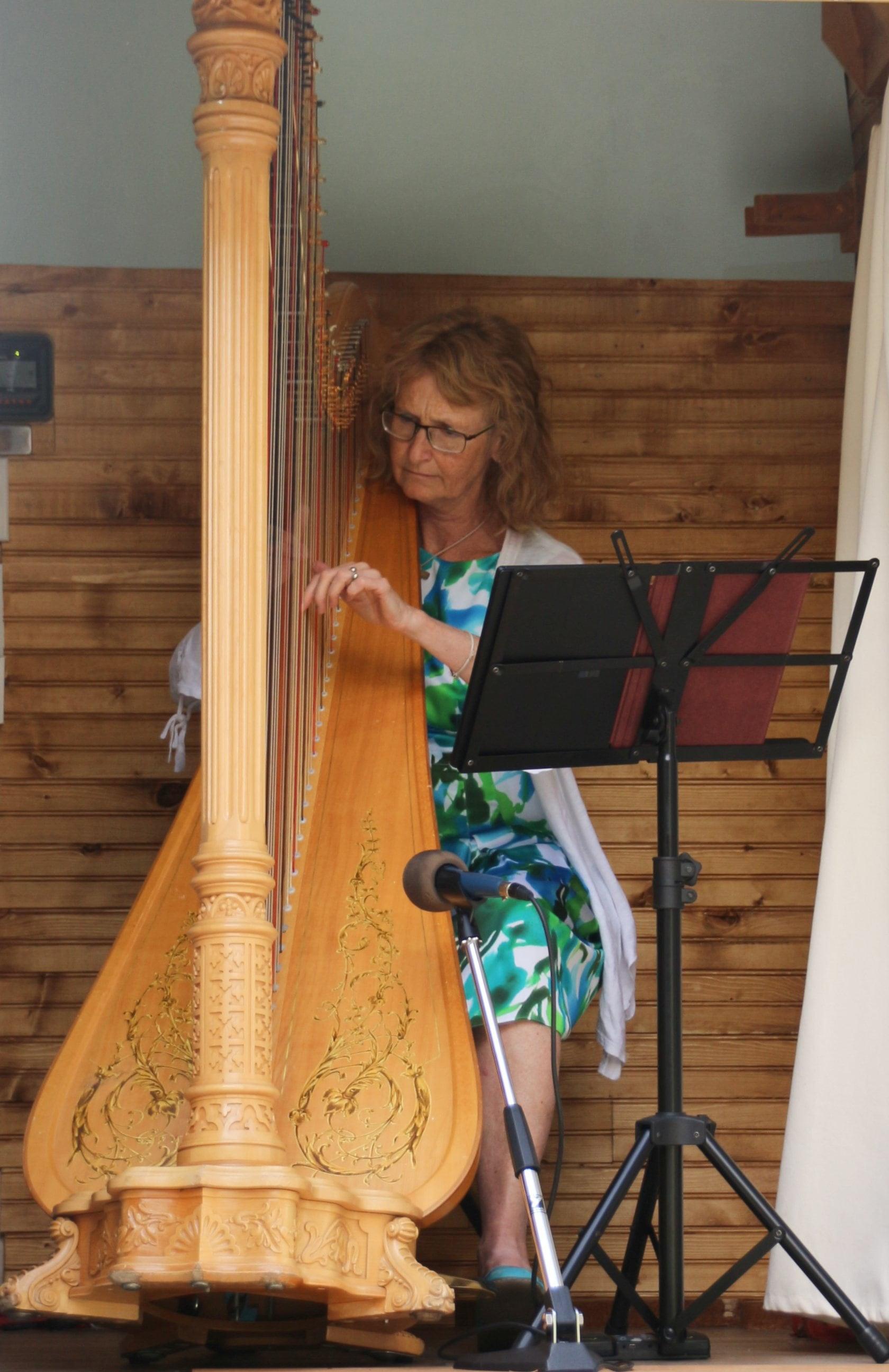 Gianetta performing for residents of Garrison Green