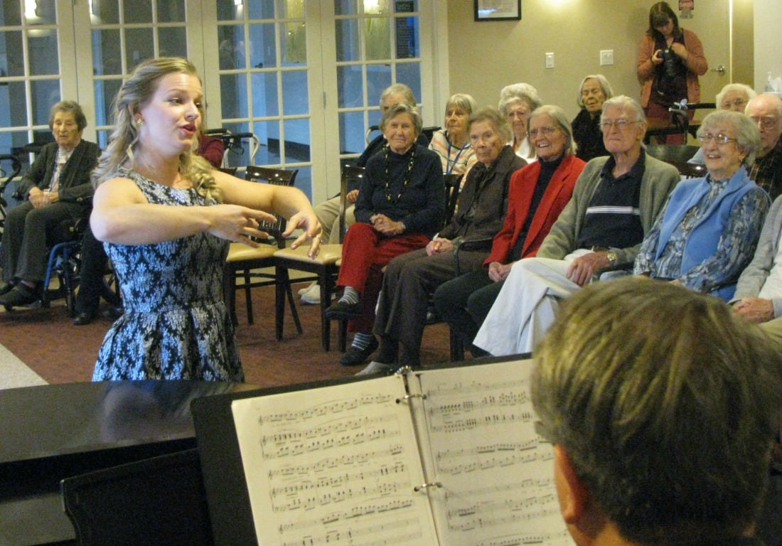 Calgary Opera's Lauren Woods and others performed at Garrison Green last year