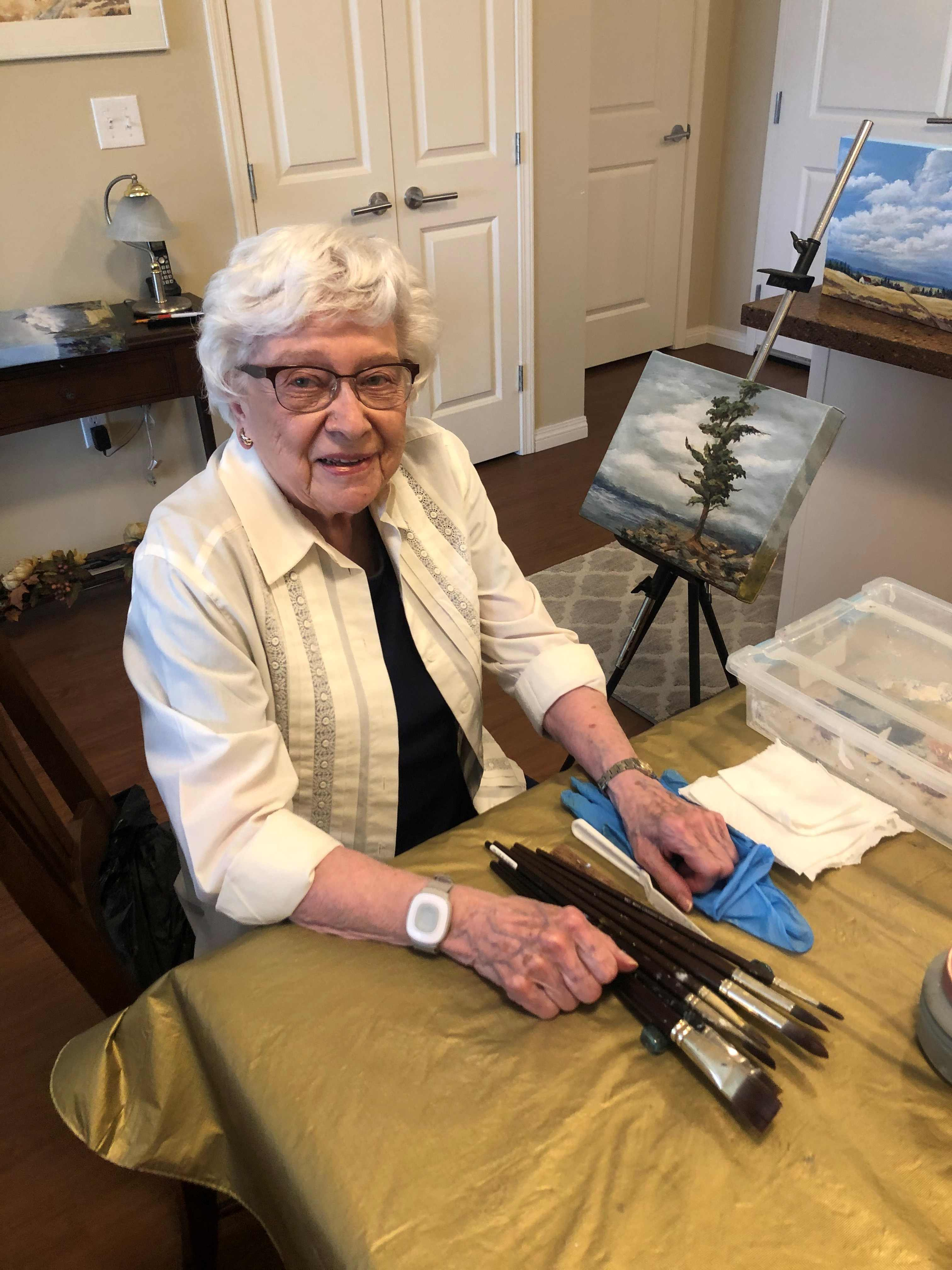 Margaret Agnew in her home studio