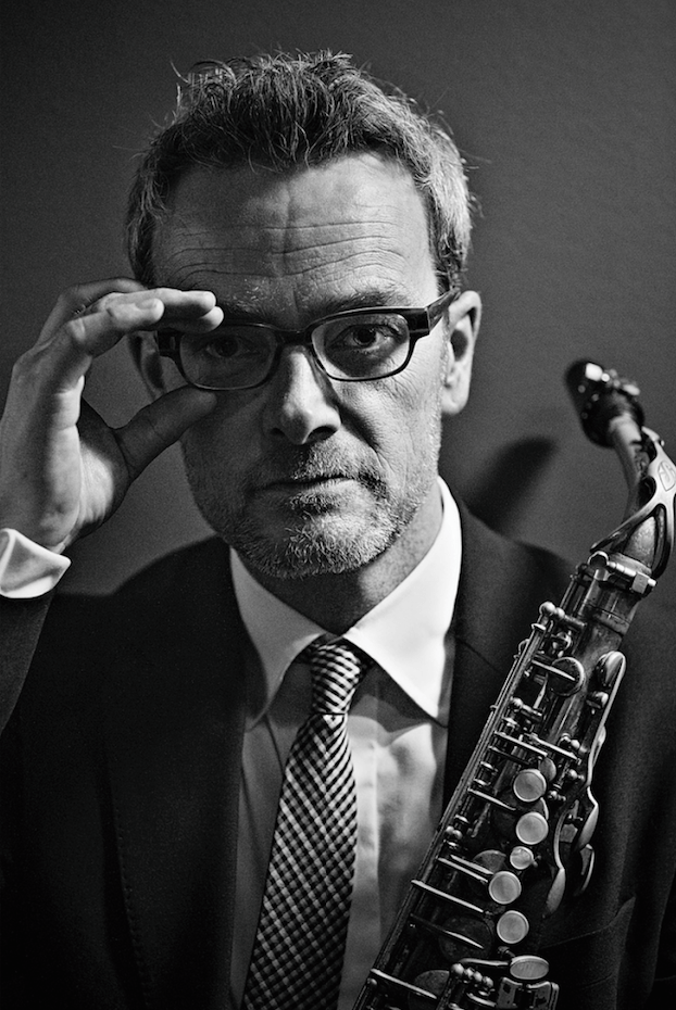 Mark DeJong with saxophone