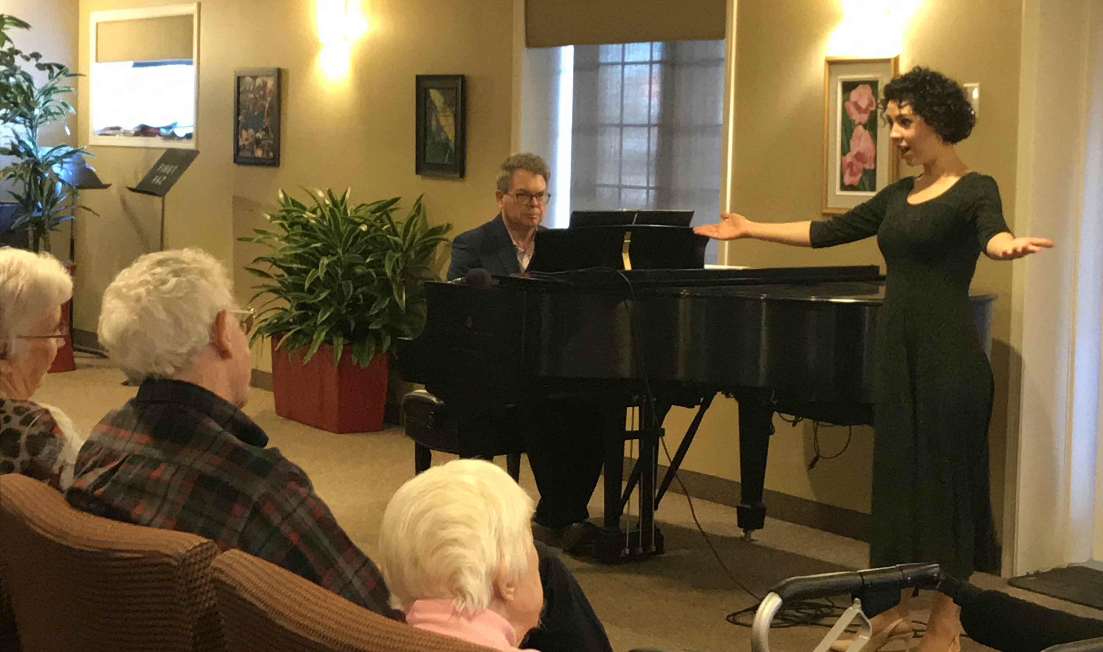 Marie Civitarese with Mel Kirby on piano