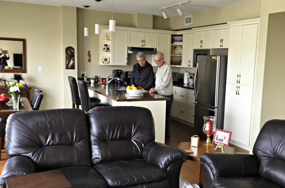 Ross and Ellenore in their suite at Fish Creek