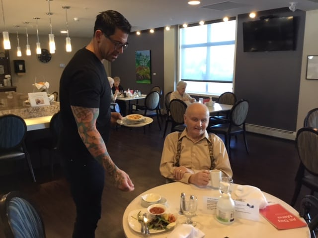 Chef Ryan Bourquin serves Landis in the bistro