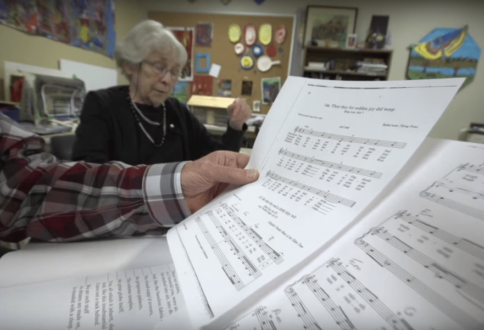 Residents at Garrison Green enjoy a music session