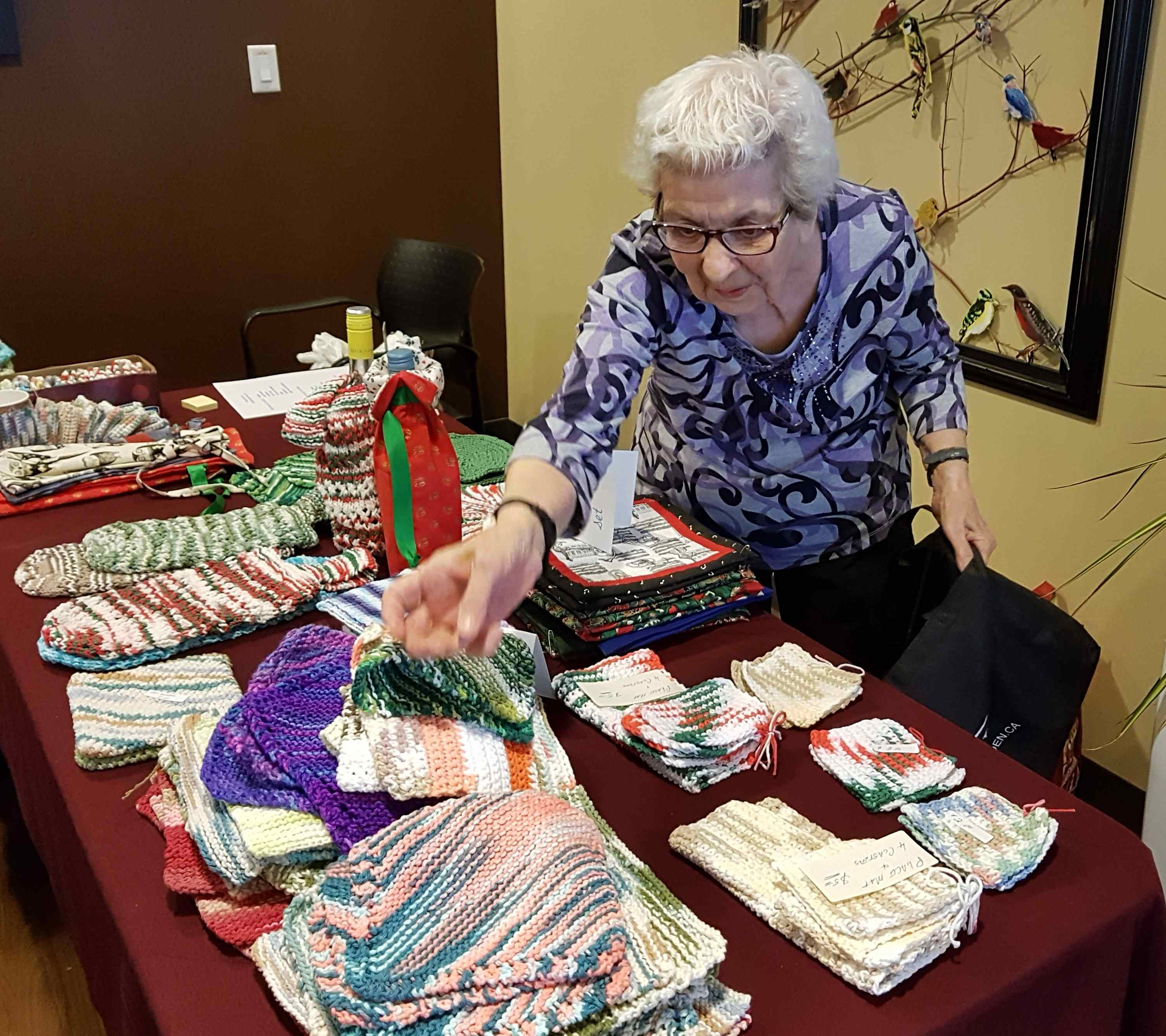 Garrison Green resident Trudy Martin is very active in the community's fibre arts club