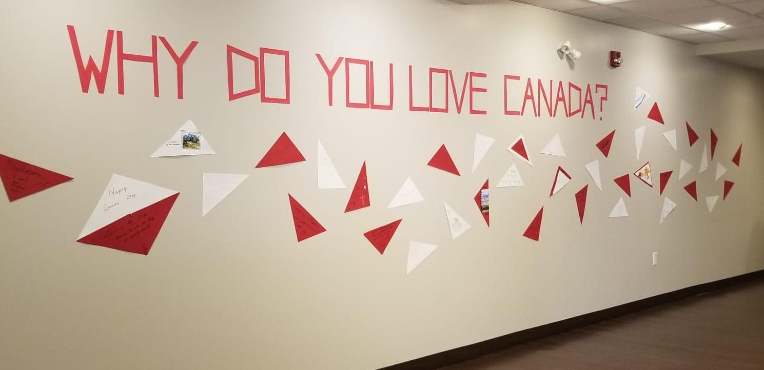 Collaborative art display at Fish Creek